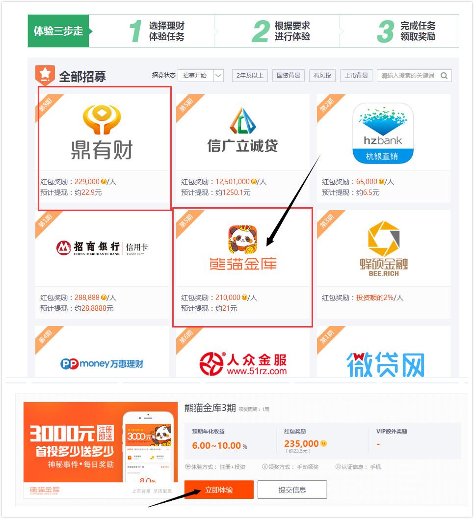 熊猫金库 投资100元4天撸8元。